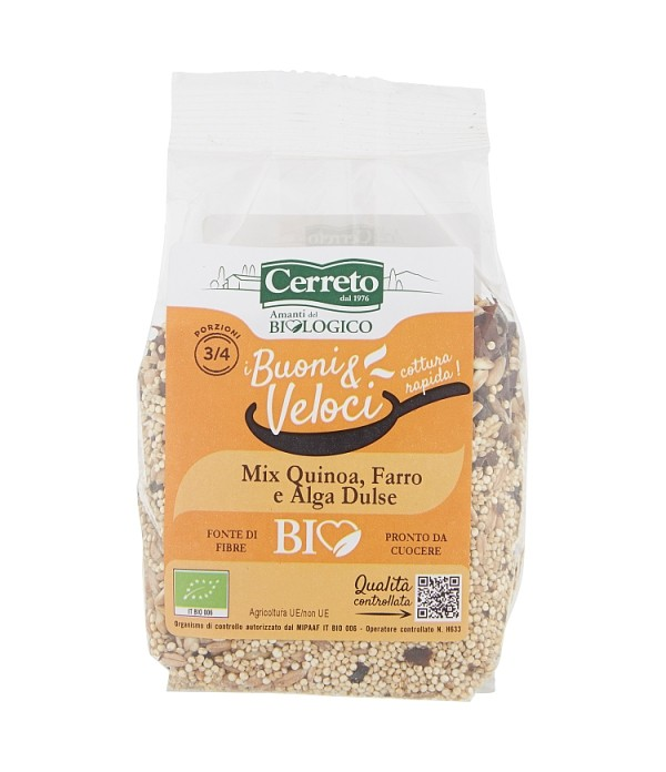 MIX QUINOA, FARRO E ALGA DULSE BIO